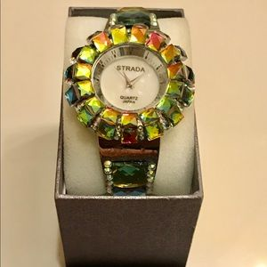 Vintage Strada Watch with Austrian Crystals